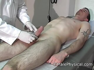 erection, embarrassing, doctor, visit, brunette, fetish
