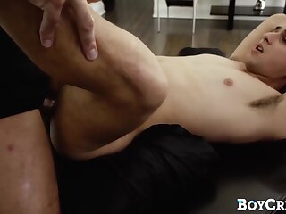 guy, twink, lima, chokes, on, cock