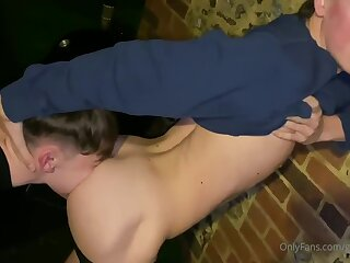 lad, scally, outdoor, threesome, brunette, cumshot
