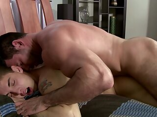 nailining, hard, escorted, by, muscle, gay