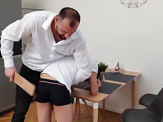 boy, naughty, spanked, brunette, fetish, hd