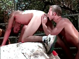 thong, shlong, creampie, hunk, outdoor, rimming